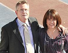 New knight John Walker with wife Helen. Photo / Martin Sykes