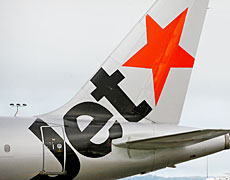 Newcomer Jetstar has been forced to build a bigger buffer into its domestic timetables. Photo / Greg Bowker