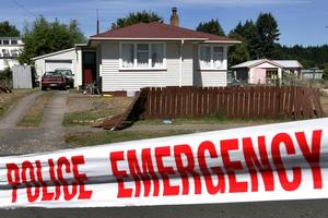 The house where Jordan Herewini was hit and dragged through a fence. Photo / Alan Gibson