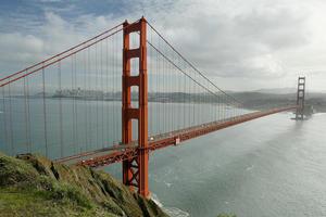 The Golden Gate Bridge looking back towards downtown San Francisco. Photo / Martin Sykes