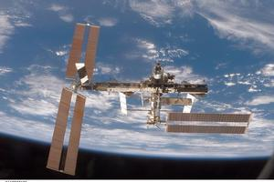 The International Space Station, destination for the crew of Russia's Soyuz TMA. Photo / NASA