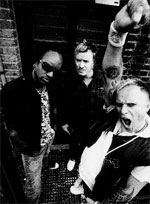 The Prodigy (from left): Maxim, Liam Howlett and Keith Finn. Photo / Supplied