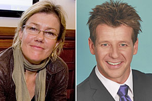 Robyn Malcolm and Simon Barnett will are taking opposite sides in the smacking debate. Photos / Dean Purcell, supplied