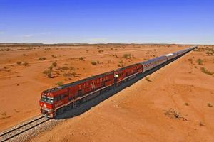 Passengers can dine in style and sleep like babies as The Ghan travels through the outback. Photo / Supplied
