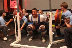 Odell Manuel is the Australian powerlifting champion. Photo / Supplied