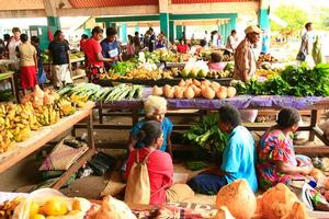 The food markets in Port Vila. Photo / Martin Sykes