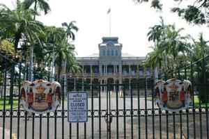Iolani Palace in Honolulu, Hawaii, is now a monument to the overthrown monarchy. Photo / Jim Eagles