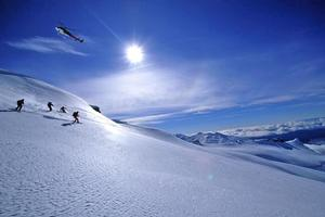 Heli-skiers are flown to remote places for the ultimate snow sport experience. Photo / Supplied