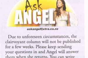 Raewyn spotted this in the Weekend Sun (Tauranga). 'I'm not sure how well 'unforseen circumstances' reflects on a clairvoyant's skills.'