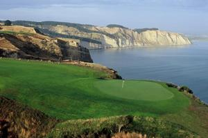 The views are so spectacular it's easy to get distracted on the golf course at Cape Kidnappers Resort. Photo / Supplied