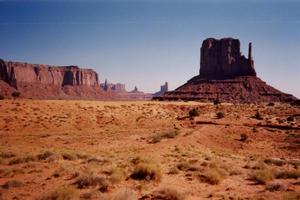 Monument Valley's crimson sandstone towers reach skyward. Photo / Jim Eagles