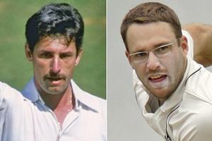Sir Richard Hadlee (L) and Daniel Vettori. Photos / Getty Images, AP