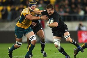 All Black skipper Richie McCaw was an inspiration in last night's 33-6 defeat of the Wallabies. Photo / Getty Images
