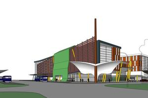 An artist's impression of the station and campus building.