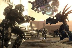 In ODST, the  power of the Chief is gone, and just a  human special forces grunt. Photo / Supplied