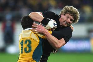 All Black blindside Adam Thomson made an impressive return to test match rugby last night. Photo / Getty Images