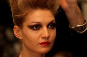 A model backstage at Trelise Cooper. Photo / Getty Images