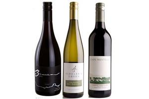 Brennan Central Otago Pinot Noir 2007, Fiddler's Green Waipara Dry Riesling 2008 and Cape Mentelle