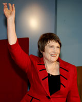 Little did Helen Clark know on election night she would be winning a different vote so soon. Photo / Janna Dixon