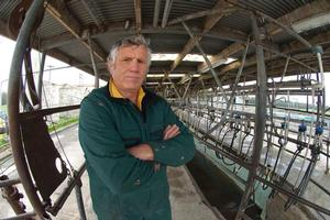 Allan Crafar in the milking shed on his farm in Reporoa. Photo / Tracey Robinson
