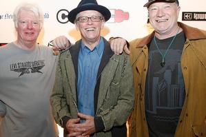 Surviving members of Ray Columbus and the Invaders (from left) Dave Russell, Ray Columbus and Billy Kristian. Photo / Greg Bowker