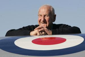 Les Munro, above and right, flew 57 bombing sorties over Europe during World War II and put his survival down to 'Lady Luck'. Photo / Bay of Plenty Times