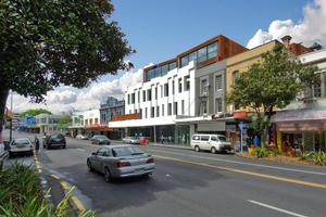 The K Rd four-level building is expected to sell for under $1 million. Photo / Supplied