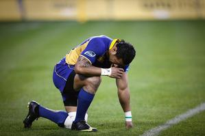 Fetu'u Vainikolo sums up Otago's difficult season. Photo / Getty Images