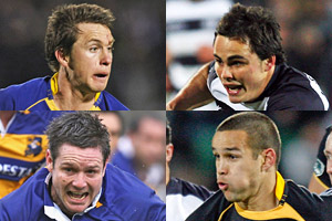 New All Blacks (from left) Ben Smith, Zac Guildford, Mike Delany and Tamati Ellison. Photos / Getty Images