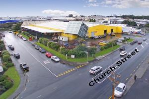 The vacant section has good street frontages, with excellent exposure, on Church St and Henderson Place. Photo / Supplied