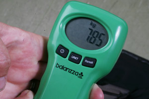 Digital luggage scales may help you avoid costly excess baggage fees. Photo / Glenn Jeffrey