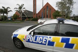 The scene of the Armed Offenders Squad callout in St Heliers. Photo / Glenn Jeffrey