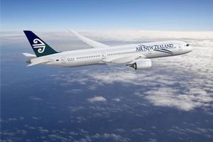 An artists impression of an Air NZ Boeing 787 'Dreamliner'.