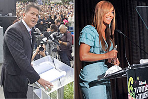 Brian Tamaki and Beyonce each have their own dedicated followers. Photos / Mark Mitchell, AP