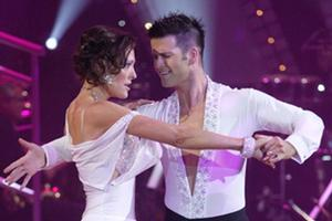 Rebecca Hobbs & Aaron Gilmore on  Dancing with the Stars. Photo / TVNZ, Neil Mackenzie
