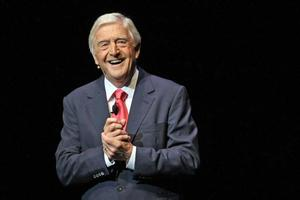 Sir Michael Parkinson's one-man show is really about his guests. Photo / Dean Purcell