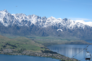 Paragliding over Queenstown is described as a 'life-changing experience' by Lonely Planet's Best in Travel 2010 guide. Photo / Eveline Jenkin