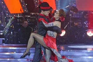 The flamboyant winners of series three, Suzanne Paul and Stefano Olivieri, show that it takes two to tango. Photo / Supplied