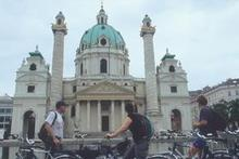 Vienna is packed with historic buildings and  riding a bicycle is a leisurely way to appreciate their charm. Photo / Supplied