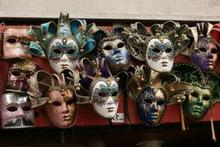 Carnival masks are a common sight in Venice. Photo / Jim Eagles
