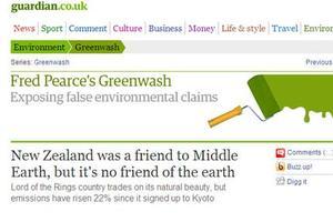 Screengrab of the Guardian article.
