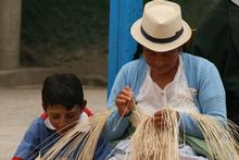 The Ecuadorian women who weave Panama hats high in the Andes are descendants of the indigenous Quichua people. Photo / Jim Eagles