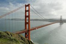 The Golden Gate Bridge looking back towards downtown San Francisco. Photo / Martin Sykes