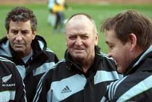 With a 5-1 record, All Blacks coach Graham Henry could be getting to Robbie Deans. Photo / Getty Images
