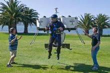 The Martin Jetpack got its first public demonstration in New Zealand last month at Waitangi. Photo / Supplied