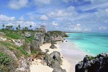 Mayan ruins on the coast at Tulum. Photo / Getty Images