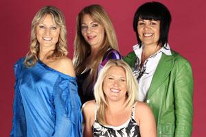 Four happily single women, from L-R, Jessica Martin, Amanda Palmer, Sarah O'Brien and Nichelle Milan. Photo / Martin Sykes