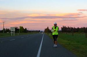 Ultramarathoner Lisa Tamati on the Canterbury plains, south of Christchurch. Photo / Jaron Mumby.