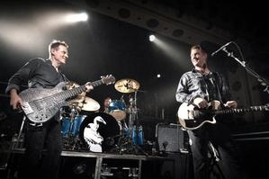 Though their music spans four decades, Them Crooked Vultures have similar musical influences rooted in blues-based rock. Photo / Supplied by Maria Robinson
