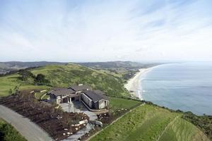Luxurious Pakiri Point Lodge, which overlooks stunning Pakiri Beach in Rodney, was the subject of a long-running planning battle. Photo / Supplied
